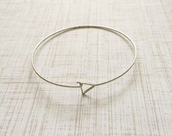 Simple Triangle Silver Bracelet