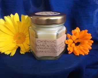 Organic Calendula and Chamomile Healing Salve for Distressed Skin.