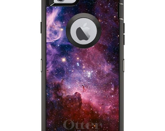 Carina Nebula OtterBox Defender / Apple iPhone OR Samsung Galaxy / Stars Space / Custom Personalized Monogrammed / Any Color / Any Font