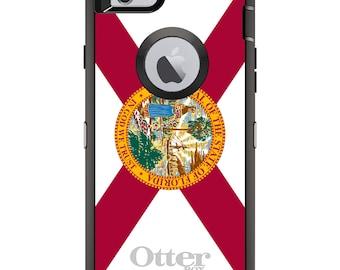 CUSTOM OtterBox Defender Case for Apple iPhone 6 / 6S / 7 / PLUS - Personalized Monogram - Florida State Flag