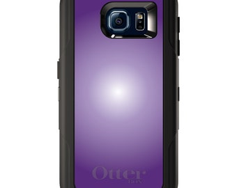 Custom OtterBox Defender for Galaxy S5 S6 S7 S8 S8+ Note 5 8 Any Color / Font - Purple White Gradient Burst