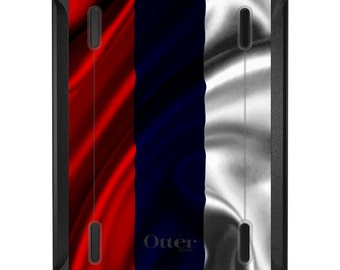 Custom OtterBox Defender for Apple iPad 2 3 4 / Air 1 2 / Mini 1 2 3 4 - CUSTOM Monogram - Russia Russian Waving Flag