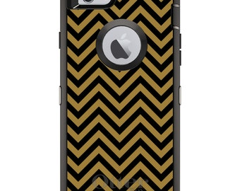 Custom OtterBox Defender Case for Apple iPhone 6 6S 7 8 PLUS X 10 - Monogram - Wake Forest University WF Demon Deacons Colors Chevron
