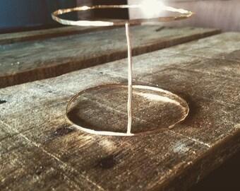 14 k goldfilled hammered arm bangle