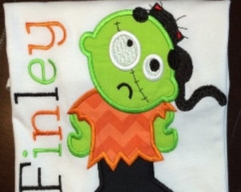 Personalized Zombie Boy Shirt, Onesie, Romper or Dress