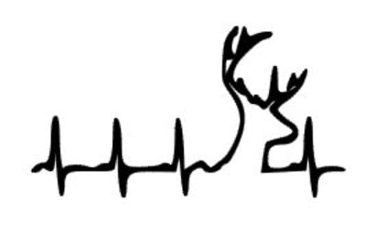 Items Similar To Country Deer Deer Heartbeat Hunting Car Decal - Browning vinyl decals