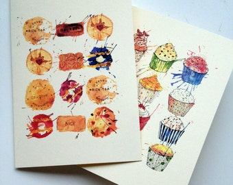 A6 Cupcake & Cookie Card Pack