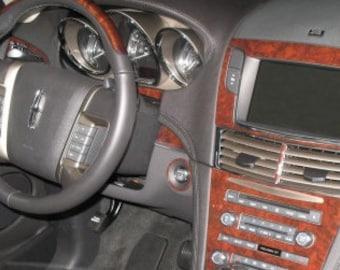 Lincoln MKC 2015-UP SUV Basic Interior Set Wood Dash Trim Kit 29 Pcs