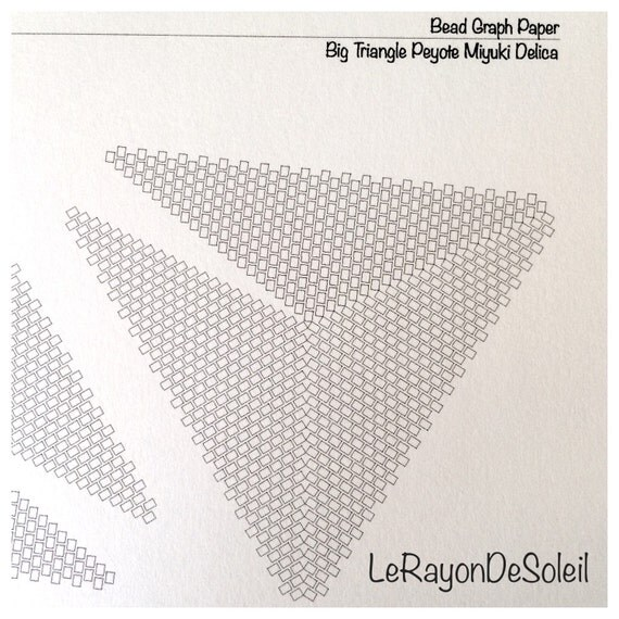 Triangular Template Miyuki Seed Beads Delica Bead Graph Paper.