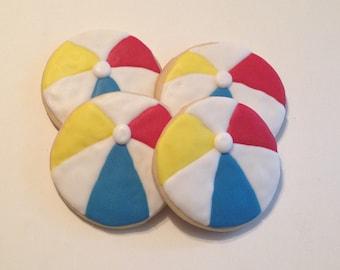 Beach Ball Sugar Cookies