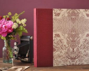 Handmade Wedding Album, Photo Album, Wedding Photos, Maroon Album, Wedding Scrapbook, Memory Book, Anniversary Gift, Made to Order