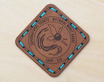 Fairy Leather Merit Badge Patch