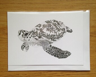 Endangered Hawksbill Turtle A6 Greeting Card