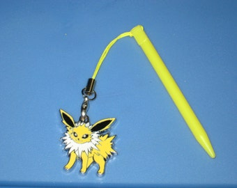 Nintendo 3DS Stylus With Pokemon Jolteon Charm Attached