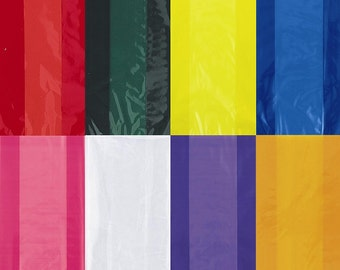 Colored cellophane plastic gift treat bags, goodie bags, candy bags
