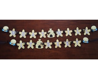 What will it bee? banner, bee banner, bee baby shower banner, bee baby shower, bee baby shower decorations