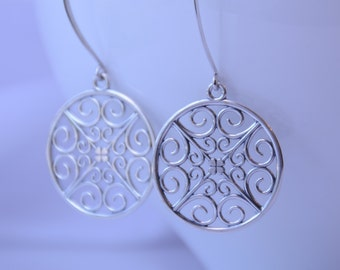 Sterling silver earrings. Modern earrings
