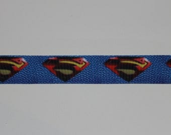 "7/8"" Grosgrain Superman Ribbon"