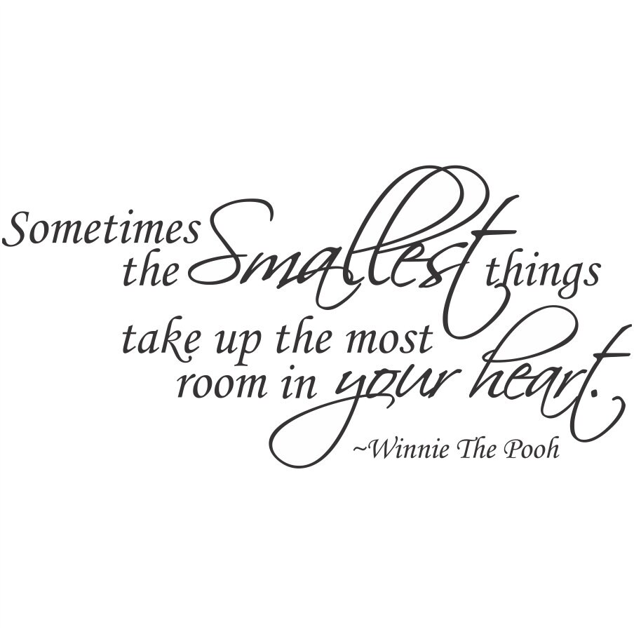 Winnie The Pooh Quotes Sometimes The Smallest Things: Sometimes The Smallest Things Winnie The Pooh Quote... Vinyl