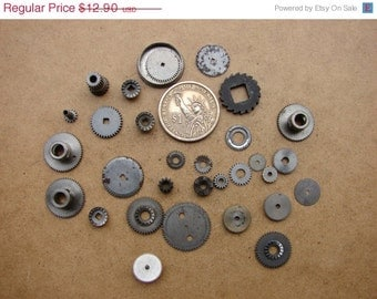 Vintage Antique metal gears / Steampunk Gears / Altered Art Industrial Mixed Media Assemblage / Watch Gears / Watch parts WW8e