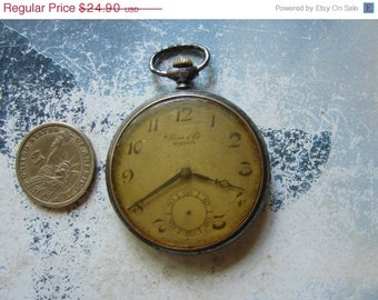 Antique Swiss made Pocket watch BRENETS Altered Art / Assemblage / pocket watch case / Steampunk supplies / project ready case Pw60