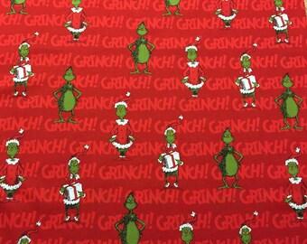 Travel Pillow Case / Standard or Queen Pillow Case / The Grinch / Christmas / Dr. Seuss / Bah Humbug