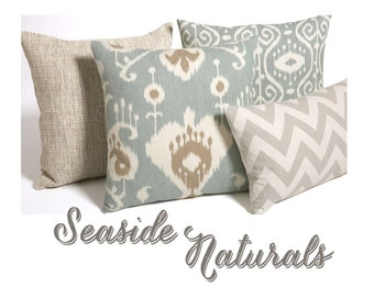 seafoam collection beach pillow covers beach throw pillows3og3