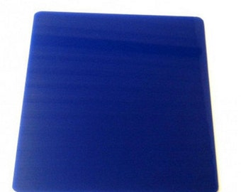 Square Solid Blue Acrylic Coasters