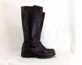 10 - Dark Brown J. Crew Calf-High Riding Boots