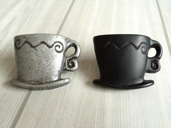 Kitchen Cabinet Knob Door Knobs / Drawer Pulls / Drawer Pull Handles Antique Silver Black / Bar