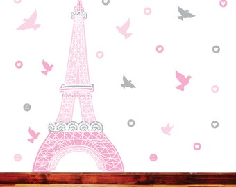 Paris Wall Decals - Eiffel Tower Fabric Wall Decals