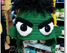 Crochet Hulk Hat, The Incredible Hulk Accessories, Green Hulk Hat, Knitted Hulk Hat, Winter Hulk Hat, Children's Hulk Hat, Hulk Hat