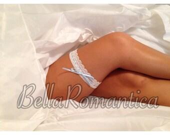 Something Blue #005 - Wedding Garter - Bridal Garter