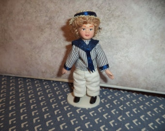 1:12 scale Dollhouse Miniature Boy doll