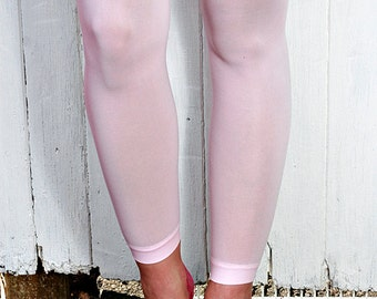 Baby Pink, Light Pink High Quality Opaque Nylon Tights Leggings One Size