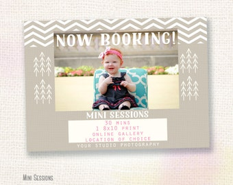 ON SALE Mini Session Marketing Template for Photographers, Photography Marketing Board, Mini Sessions, Photoshop template, Instant Download