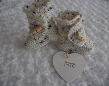 Cream baby Ugg booties,*H UGG Y*booties,crochet booties,baby slippers,Ugg booties, shoes,football booties,christening shoes,baby showergift.