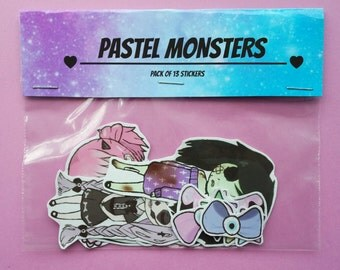 PASTEL MONSTERS STICKERS