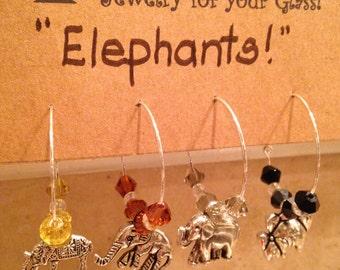 Elephant Wine Charms