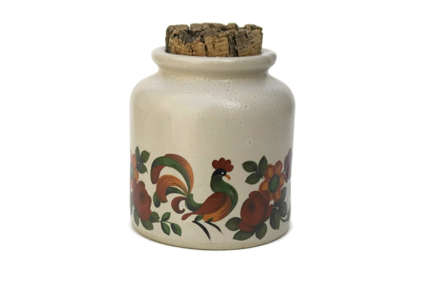 Lid Rustic French Kitchen Canister Stoneware Kitchen Canisters