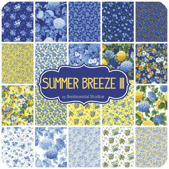 Summer Breeze Iii Charm Pack By Sentimental Studios For Moda