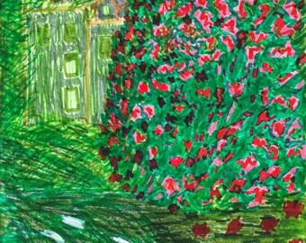 Original Marker Print - - Monet's Parc Monceau