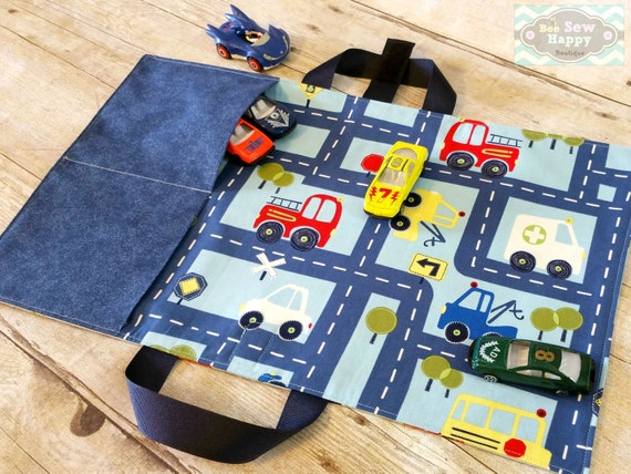 Diy Toy Car Holder : Toy car caddy play mat carrier by beesewhappyboutique