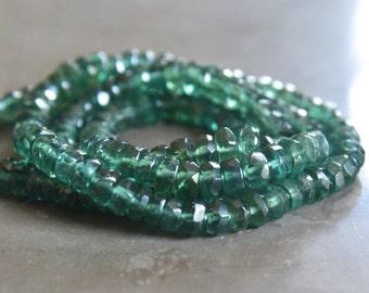 Green Apatite Rondelles Destash