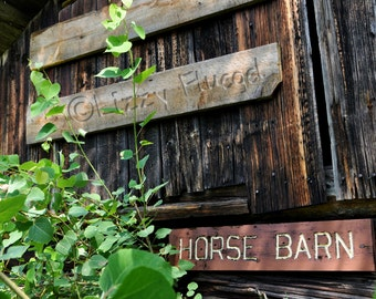 Horse Barn 8x10 Fine Art Photography Print of a Rustic and Withered old Finnish Barn