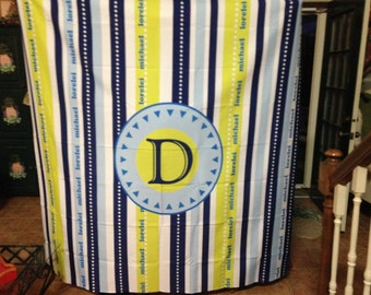 Personalized Shower Curtain, Shower Curtain, Monogram Shower Curtain, Jack and Jill bath
