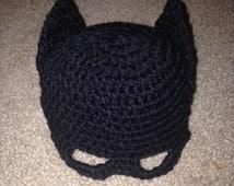 Batman hat, bat hat, kids batman hat, superhero, photography prop, batman baby hat, crochet batman hat, crochet hat, superhero prop, batmam