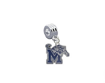 Memphis Tigers European Charm for Bracelet, Necklace & DIY Jewelry
