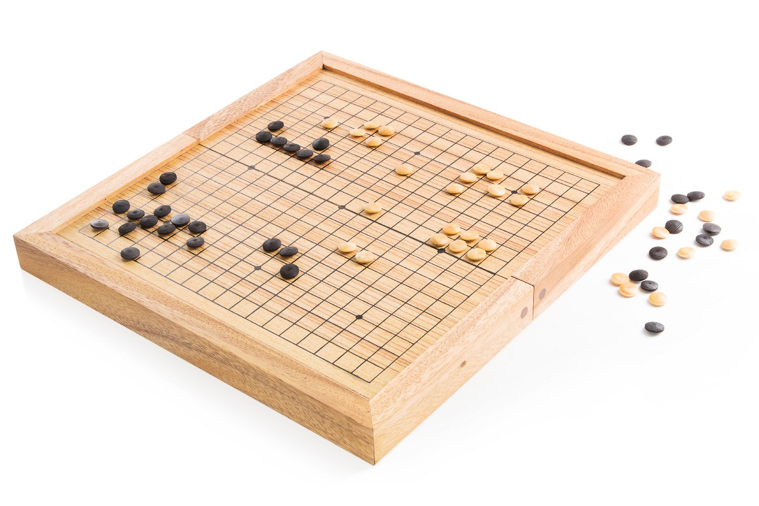 Wood Board Games ~ Go wooden board game wood