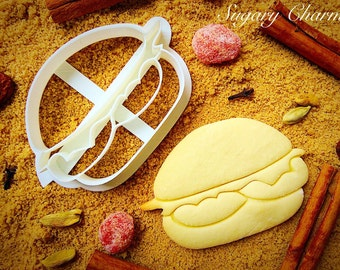 Delicious hamburger cookie cutter